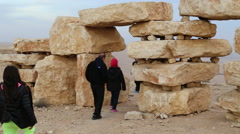 Enviromental statues in Mitzpe Ramon - stock footage