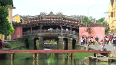 Stock Video Footage of Japanese Bridge,  Hoi An, Vietnam