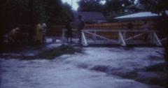 Tahiti Flood 1968 60s Historical 16mm Street Flooded Real Stock Footage