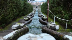 Fountain Of The Chain Villa Lante Bagnaia Italy Stock Footage