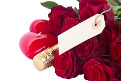 Valentine's day  dark red  roses Stock Photos