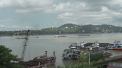 Sagaing, Overview of Sagaing Hill Stock Footage