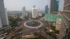 Time lapse (day) Jakarta traffic at Jalan Bunduran - stock footage
