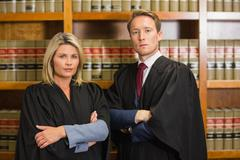 Stock Photo of Team of lawyers in the law library