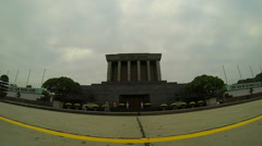 Ho Chi Ming Monument, Hanoi - stock footage