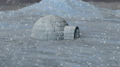 Arctic Igloo  - 4K Resolution Ultra HD Stock Footage