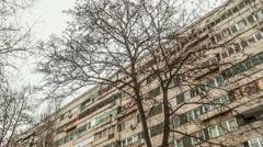 time lapse eastern european communist architecture buildings establishments e - stock footage