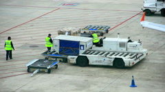 Airport Airplane Services Timelapse Stock Footage