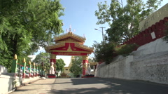 Sagaing, Swan Oo Pon Nya Shin Pagoda, entrance Stock Footage
