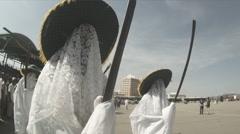 Eyos in Masquerade Stock Footage