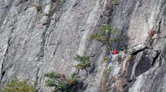 Rock Climbers - stock footage