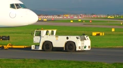 Boeing 757 towed Stock Footage