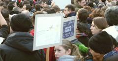 Je Suis Charlie - France Marche Republicaine Stock Footage