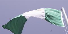 Slo-Mo Nigerian Flag Stock Footage
