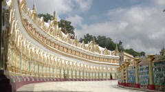 Sagaing, U Min Thonze Cave Stock Footage