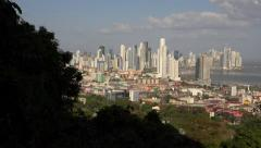 Panama City, Panama - January 10, 2015: View Of Obarrio Bank District In 4K - stock footage