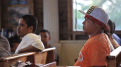 Local Men at Community Gathering on Micronesian Island of Yap Stock Footage