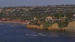 La Jolla Shores Mansion Cliff Homes View 4k Stock Footage
