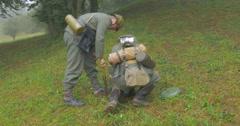 German soldier mining 07 Stock Footage