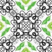Decorative ornamental seamless spring pattern. Endless elegant texture with - stock illustration