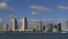 San Diego Bay Speed Up 4k Stock Footage