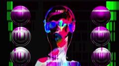 DJ Music night club,music star dj background - stock footage
