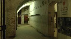 Emergency room inside Fort Vaux, near Verdun, Meuse, France. Stock Footage
