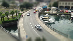 Montenegro time lapse bridge over the water vechicle Stock Footage