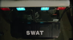 SWAT Van Top - stock footage