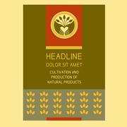 Stock Illustration of Brochure Flyer design vector template in A4 size. Crop. Agriculture