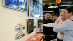 IBC 2014 exhibition in Amsterdam, Netherlands. Stock Footage