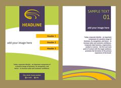 Brochure Flyer design vector template in A4 size. The logo with the image field - stock illustration