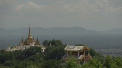 Sagaing, view from Sagaing Hill Stock Footage