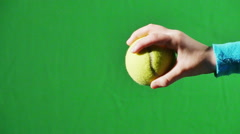 2724 Tennis Ball being Dropped In Slow Motion with Green Screen - stock footage