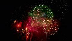 Fireworks Spectacular Composition in 4k Original Composition Stock Footage