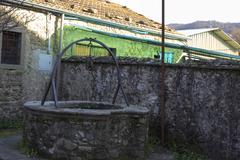 Stock Photo of medieval village called ponticello near pontremoli