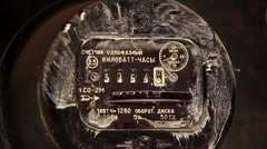 Electric Meter Dirty Stock Footage
