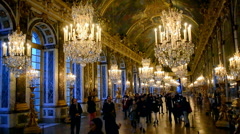 Palace of Versailles (Chateau de Versailles) in Paris, France. Stock Footage