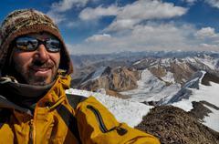 Mountaineer in tajikistan Stock Photos