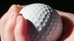 2736 Holding and Dropping Golf Ball Super Close Up, 4K - stock footage