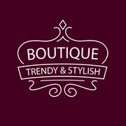 Vector logo Clothing, accessories and shoes. Trendy and stylish. Vintage. The Stock Illustration