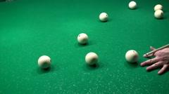 Billiards Pool Jump Shot Trick Stock Footage