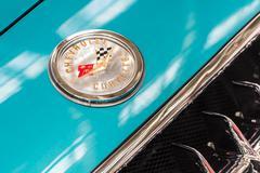 1959 Chevrolet Corvette Car Sign - stock photo