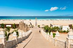 Chaves beach praia de chaves in boavista cape verde - cabo verde Stock Photos