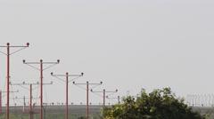 Jet Airplane Landing at Airport - stock footage