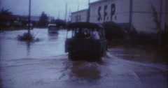 Tahiti Flood 1968 60s Historical 16mm VW Rover Stock Footage