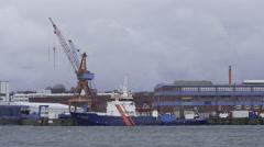Dock in Kiel Germany Stock Footage