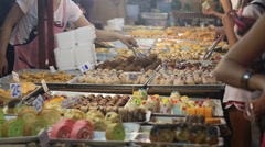 Outdoor market deserts  Stock Footage