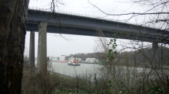 Kiel-Canal Bridge in Kiel Holtenau Stock Footage