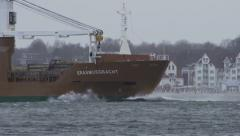 Vessel on Baltic Sea Stock Footage